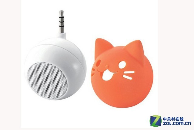 卖萌iphone音箱 elecom动物系列球形迷你音箱