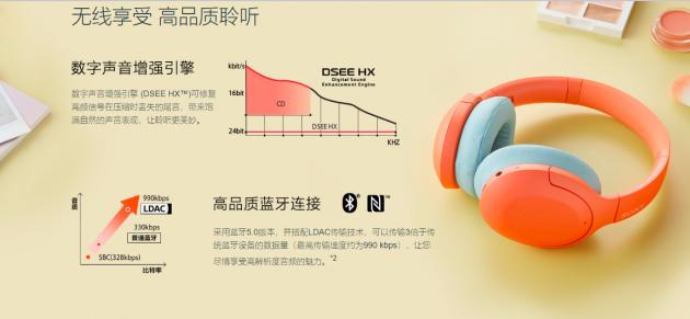 索尼降噪蓝牙耳机WH-H910N 带动潮流节奏炫出真我风尚