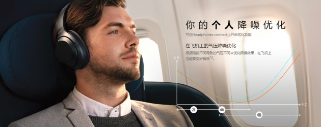 索尼蓝牙降噪耳机WH-1000XM3 提升舒适度佩戴再无累赘感